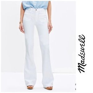 Madewell size 30 white Farmer's Market Flare Jeans